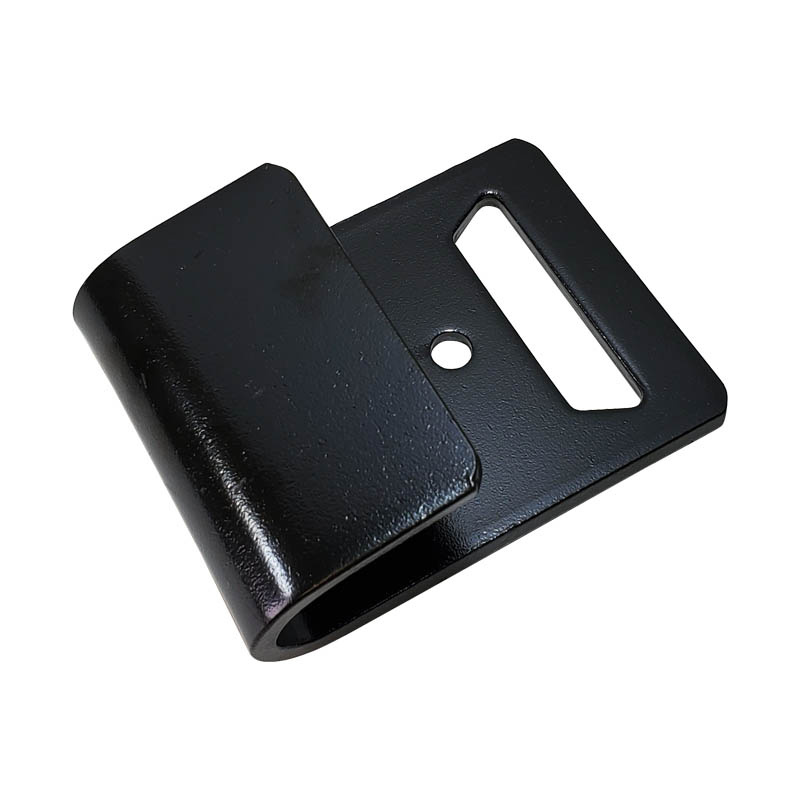 2 inch black powder-coated flat hook