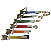 2-Inch Fixed End Ratchet Strap - 1 Foot Long