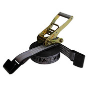 2-Inch Python Ratchet Strap With Flat Hooks and Gray Webbing