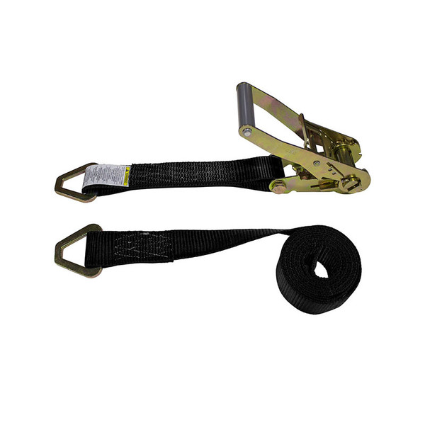 2-Inch Ratchet Strap With Delta Rings and Black Webbing