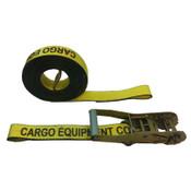 2-Inch Yellow Ratchet Strap With Sewn Loops