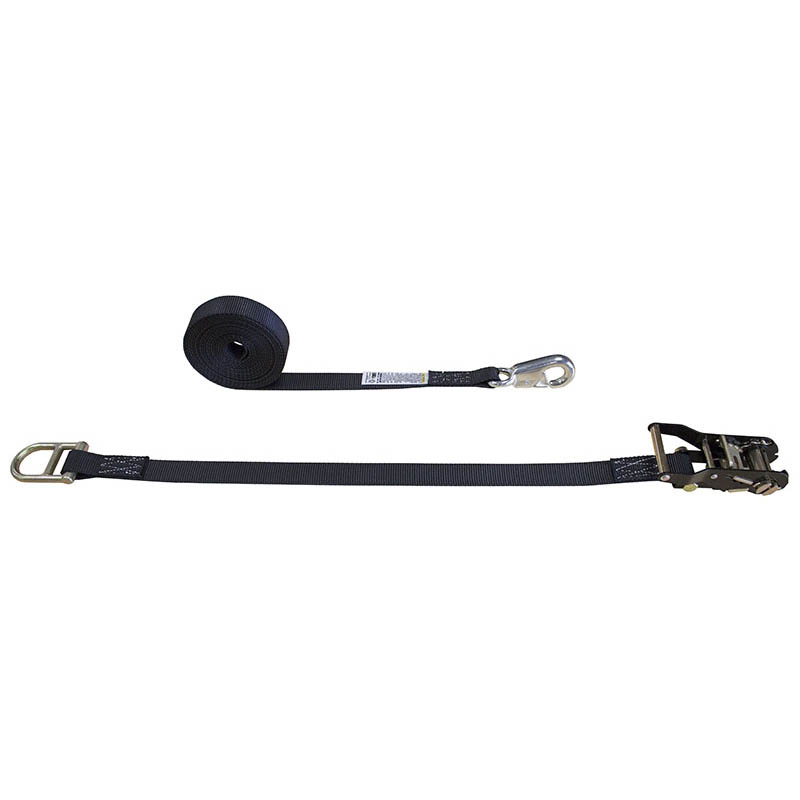 sc 1 st  Cargo Equipment Corporation & Black 1-Inch Tent Ratchet Strap with Double Bar D-Ring and Snap Hook