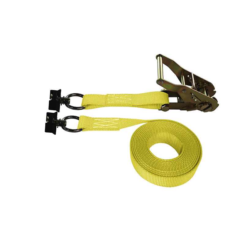 1-Inch Ratchet Strap With L-Track Fittings and Yellow Webbing