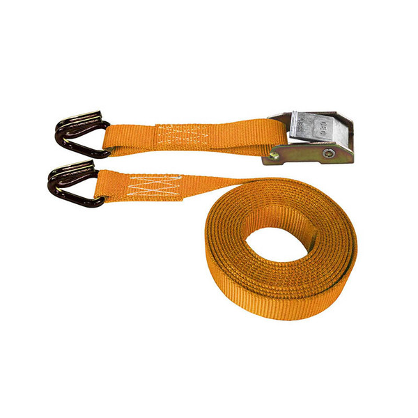 Orange 1 Inch Cam Buckle Strap with Wire Hooks