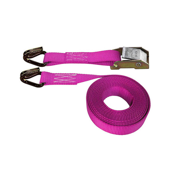 Pink 1 Inch Cam Buckle Strap with Wire Hooks