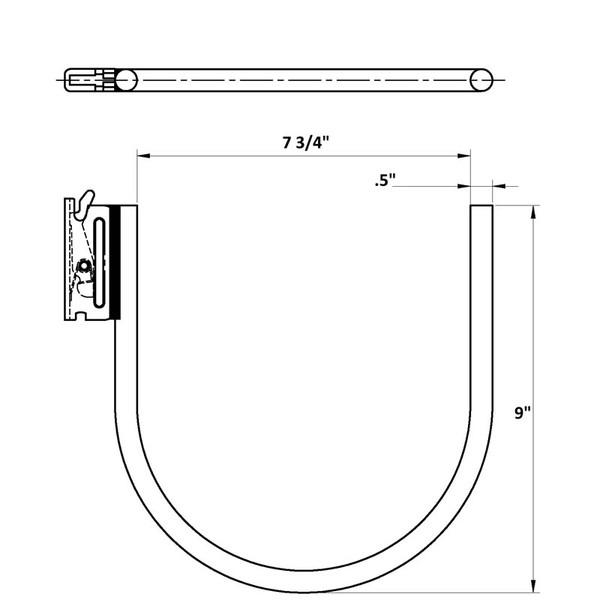 large j loop dimensions e track
