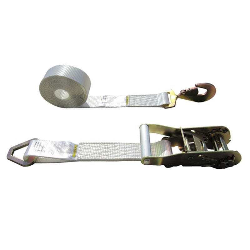 White 2 Inch Tent Strap with Delta Ring and Snap Hook