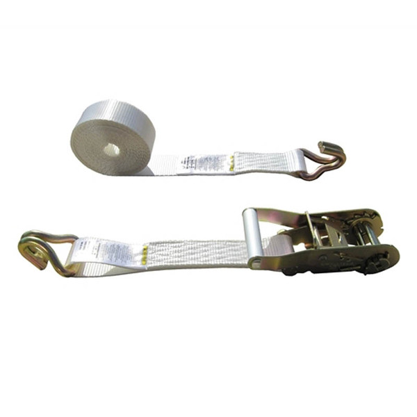 White 2 Inch Tent Strap with Wire Hooks