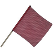18 Inch Red Jersey Flag with Staff