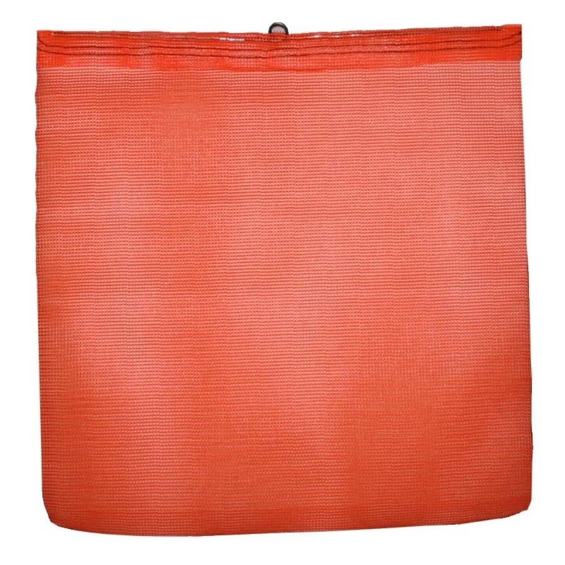 Flatbed - Truck Safety - 18 Inch Orange Mesh Flag with Wire Loop