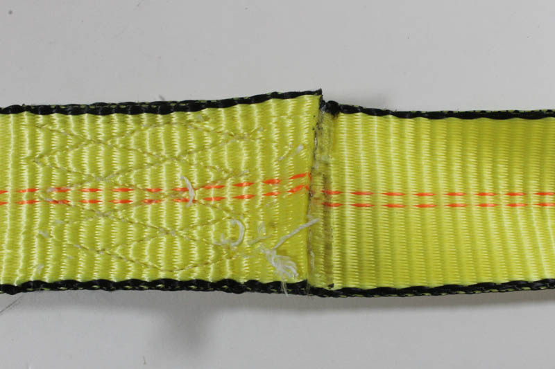Webbing showing out of service broken thread