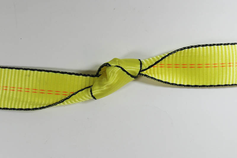Webbing showing out of service knot