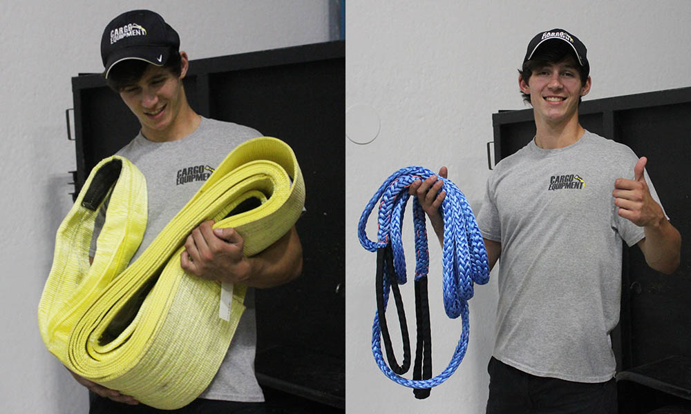 polyester tow strap versus dyneema rope