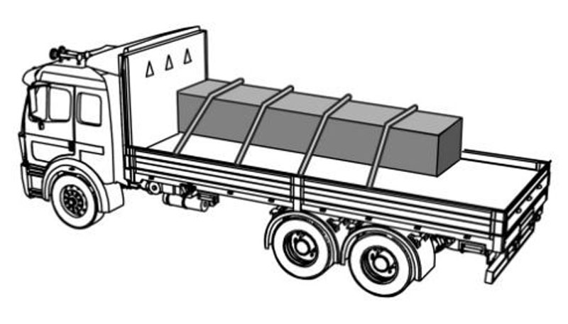 Truck With Four Tie Downs