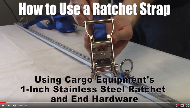 Video How to Use a Ratchet Strap Assembly in One Minute